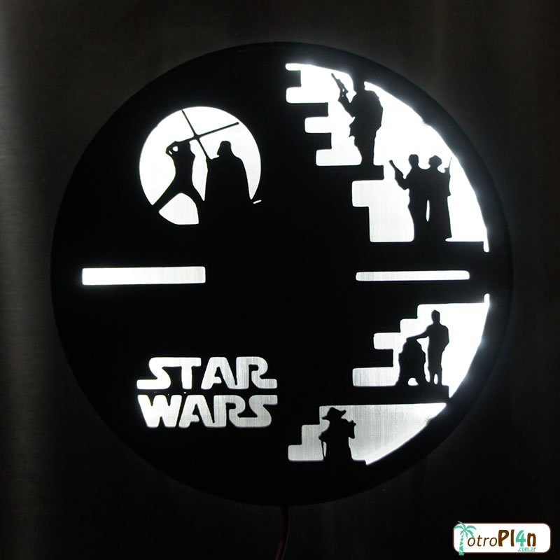 Carteles 3D led diseños personalizados star wars